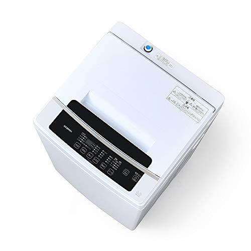 アイリスオーヤマ 洗濯機 6kg 全自動 1人暮らし まとめ洗い 毛布 部屋干し お急ぎコース ステンレス槽 IAW-T602E