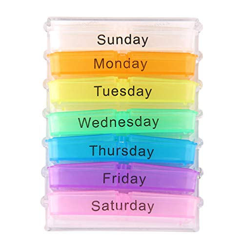 7 Seven Day Large Pill Box Medicine Tablets Holder Dispenser Pills Organiser