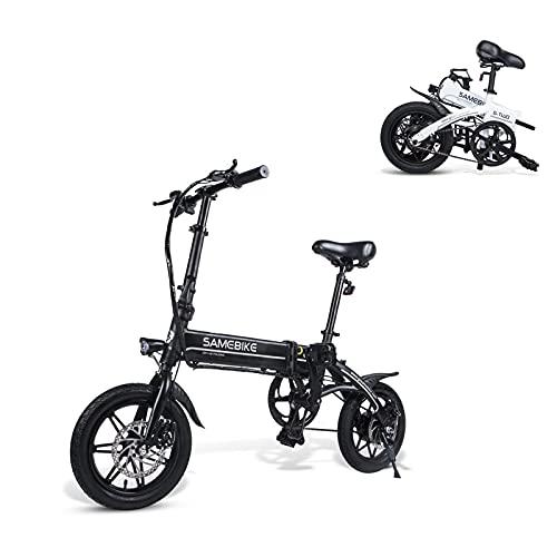 SAMEBIKE YINYU14 Bicicletta Elettrica 250W 36V 7.5AH Batteria al Litio 14 Pollici Bicicletta Elettrica Pieghevole Ultraleggera per Adulti (Colore Nero)