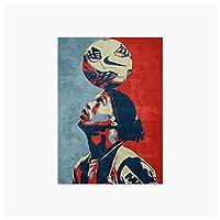 Ipea サッカー選手ロナウジーニョデアシスモレイラポートレートウォールアートポスターキャンバスカスタムHdプリント部屋の装飾寝室の装飾家の装飾-50X70Cmフレームなし