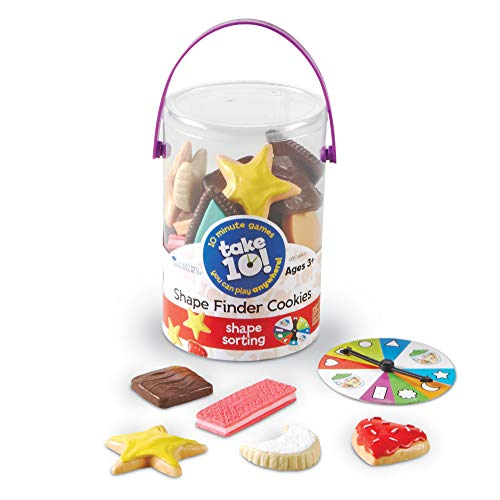 Learning Resources Take 10! Shape Finder Cookies, Early Vocabulary Skills, Gross & Fine Motor Skills, Ages 3+