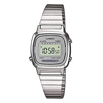Casio Women s LA670WA-7 Silver Tone Digital Retro Watch