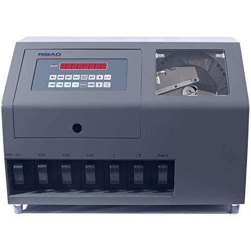 Ribao CS-600B 7-Pocket High Speed Coin Counter, Heavy Duty...