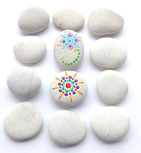 Capcouriers Rocks for Painting - Painting Rocks - Perfect for Rock Painting - 10 to 12 Smooth River Rocks for Crafts