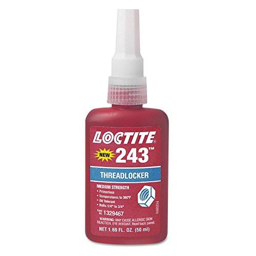"Loctite 1329467 243 Blue Medium Strength Threadlockers, 1.69 oz., 50 mL, 3/4"" Thread"