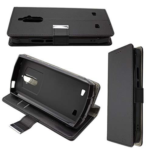 Casco para Doogee S55, Bookstyle-Case Funda Protectora a Prueba de Golpes para Smartphone (Carcasa de Color Negro)