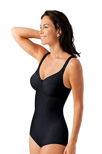 BODY MODELLATORE PLAYTEX 2858 REGINA DI QUADRI COPPA C NERO - BEIGE DALLA 34 (IT 3) ALLA 44 (IT 8) (40 C - IT 6 C, NERO)