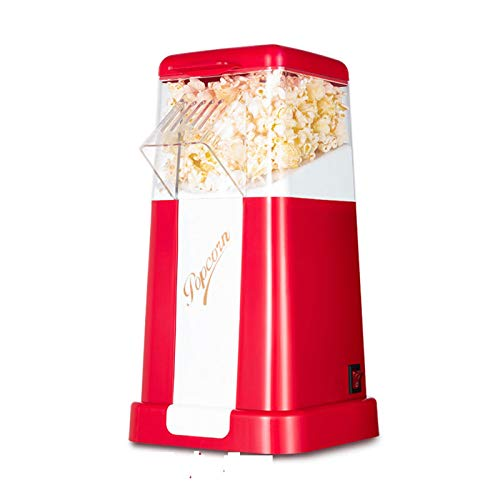 UKKD Retro Popcorn Maker – Vintage Style, Red Electric Popcorn Machine with Hot Air Circulation - for Fat-Free and Healthy Snacking- Perfect for Home Cinema