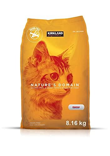 Fórmula de harina de salmón y patata para gatos Nature's Domain Kirkland Signature