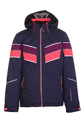 Killtec Lisetta Jr Ski-jack voor meisjes, functionele jas met afritsbare capuchon en sneeuwvanger