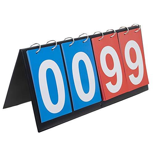 GOGO 4-Digital Anzeigetafel Sportanzeigetafel 00-99, sport fußball spielstandanzeig Tischtennis Spielstand Zähler anzeigetafel scoreboard portable table top scoreboard ergebnis flipper