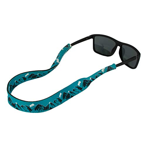 Ukes Premium Sunglass Strap - Durable & Soft Eyewear Retainer Designed with Floating Neoprene Material - Secure fit for Your Glasses and Eyewear. (The Mountaineers)