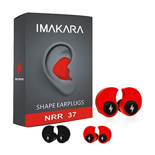 SIMANT - Tapones para los oídos moldeados a medida, protección auditiva cómoda...