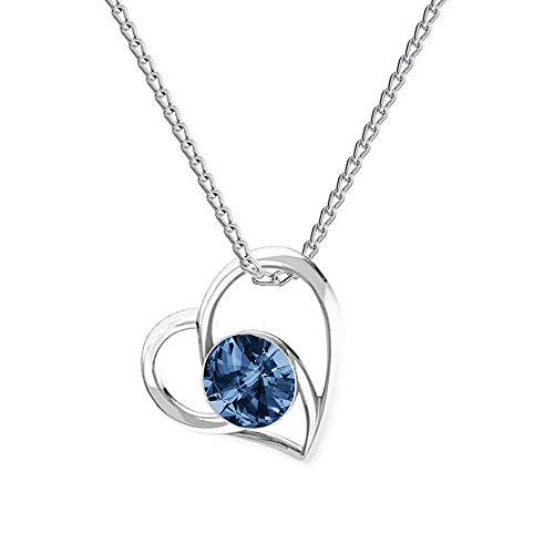 Beforia Paris, collana con ciondolo a forma di cuore, principessa, in argento 925, con elementi Swarovski, collana con custodia PIN/75 e Argento, colore: Montana, cod. 7