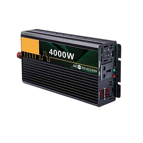 yankai Inversor Corriente 3000W Onda Sinusoidal Pura Convertidor 12V,24V,48V,60V a 220V/230V,Control Temperatura Inteligente,Disipación Silenciosa Calor