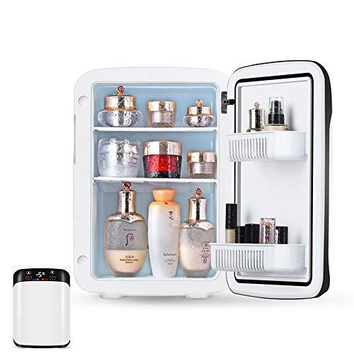 YUTGMasst Mini Refrigerador Portátil/Pequeña Nevera,Congelador Cosmético con Tres Pisos- 10 litros, para Maquillaje Y Cuidado La Piel, Sala, Automóvil Bar Refrigerador Silencioso (12V / 220V)