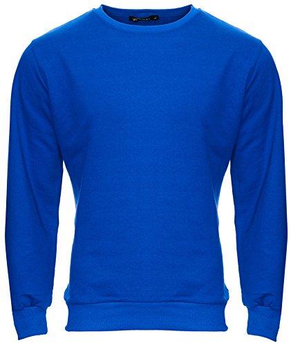 MERISH Herren Pullover Sweatshirt Rundhals Langarmshirt Modell 220 Newblue L
