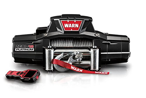 "WARN 92820 ZEON 12 Platinum 12V Electric Winch with Spydura Pro Synthetic Cable Rope: 3/8"" Diameter x 80' Length, 6 Ton (12,000 lb) Capacity"