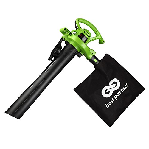 Best Partner Leaf Blower Vacuum Mulcher with 2 Speed Control, 200 MPH Air Speed 12 AMP Motor and...