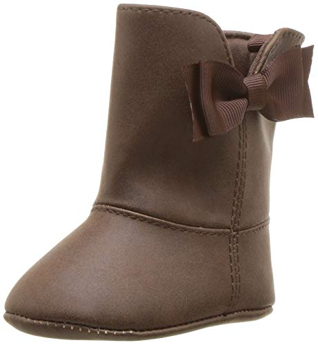 Baby Deer Girls' Suede Boot w/Bow Mid Calf, Chocolate, 2 Medium US Infant