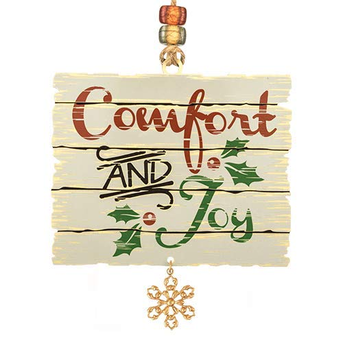 Beacon Design Comfort and Joy Handcrafted Ornament, 2.9 X 2.5 Inch