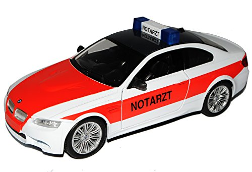 B-M-W 3er M3 E92 Coupe Weiss Notarzt 2005-2013 1/24 New Ray Modell Auto