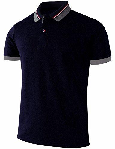 BCPOLO Herren Poloshirt Pique Kurzarm Performance Poloshirt - Rot - XL