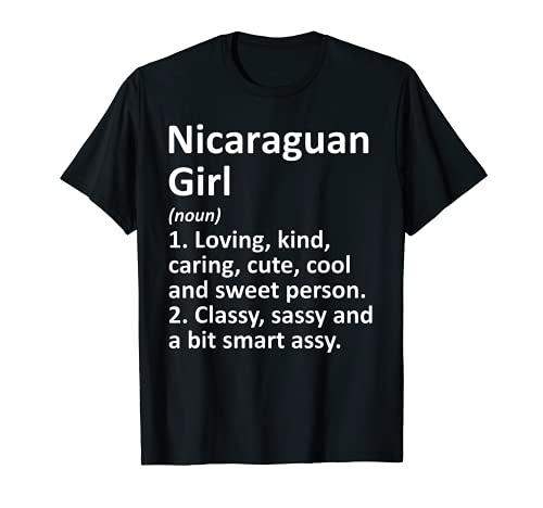 NIÑA NICARAGUA Regalo Divertido País Raíces Descenso Camiseta
