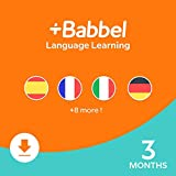 Babbel: Learn a New Language – Choose from 14 Languages including French, Spanish & English - 3 Month App Subscription for iOS, Android, Mac & PC [Online Code]