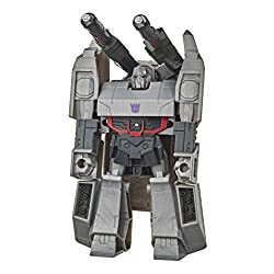 4.25-INCH MEGATRON FIGURE: 4.25-inch 1-Step Changer Megatron Action Attackers figure inspired by the Cyberverse Adventures animated series. REPEATABLE ATTACK MOVE: Convert Megatron figure to reveal his signature Fusion Mega Shot Action Attack move. F...