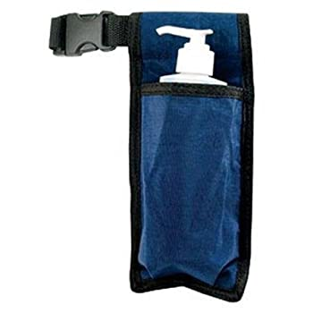 NRG Massage Holster - Single Massage Oil Lotion and Cream Bottle Holster - Holds up to an 8 Ounce Bottle - 50 Inch Long Adjustable Belt - Durable Nylon Fabric - Washable - Color  Navy