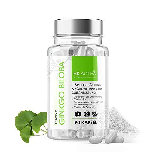 Ginkgo Biloba I 410 mg reines Ginkgo Extrakt 50:1 pro Kapsel I Hochdosiert: 20.500 mg Ginkgo Biloba I 90 vegane Kapseln I OHNE Zusatzstoffe