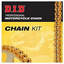 Kit cadena corona piñón X-ring oro negro 520VX3 abierto compatible con Kawasaki KLE 650 F Versys Special Edition ABS 2017 DID