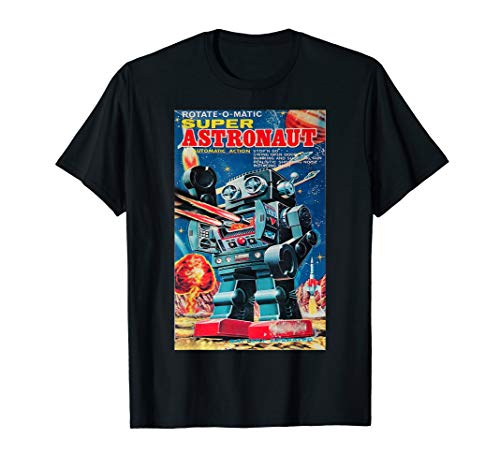 Vintage Graphic Super Astronaut Robot Retro Old Japanese Toy T-Shirt