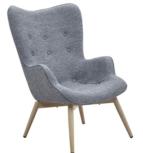 SalesFever Sessel mit Armlehnen und Webstoff bezogen Anjo grau