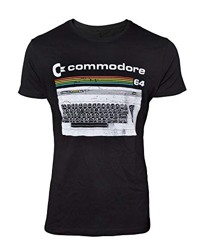 COMMODORE/C64 T-Shirt Classic Keyboard T-Shirt Black-M
