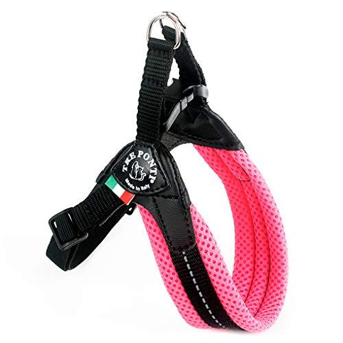 TRE PONTI - Imbracatura classica per cani, in rete, taglia 2.5, rosa