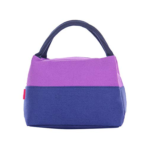 Huangou Fashion Durable and Insulated Lunch Box for Women Insulated Cute Lunch Bag Girls - Picnic Case Carry Tote Storage Bag 9x24x16cm Purple