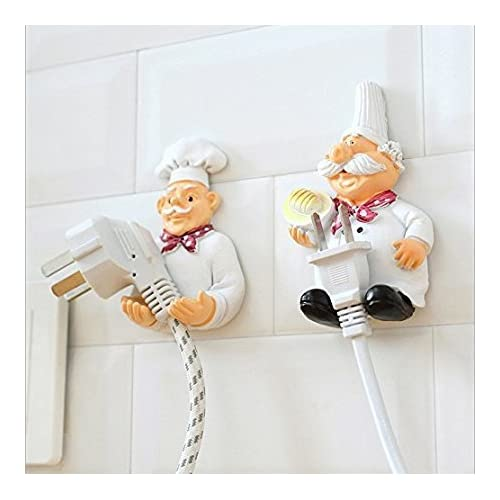 Perfect Pricee Cook Fat Chef Mobile Power Plug Hook (Pack of 2)