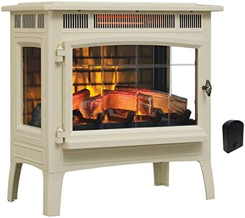 Duraflame 3D Infrared Electric Fireplace Stove with Remote Control DFI 5010 Cream Crackler product image