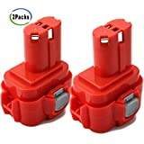 Creabest New 2 Packs 3.5Ah Ni-MH 9.6V Replacement Battery Compatible with Makita PA09 9100 9120 9122 9133 9134 9135 9135A 9.6V NI-MH Battery Pack