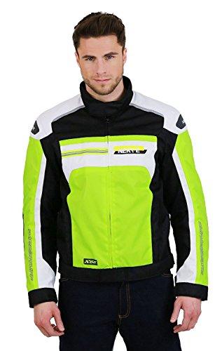 Nerve X66 Motorradjacke, Neon Gelb/Weiß, 3XL