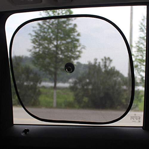 NAttnJf 2 Piezas portátil Plegable Auto Ventana Lateral Rejilla protección Solar Visera Anti UV de protección de Pantalla