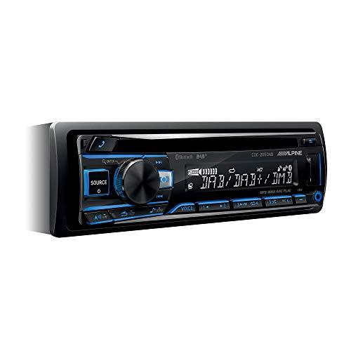 Alpine Electronics - CD Receiver mit DAB+ und Bluetooth Schwarz (RGB Beleuchtung)