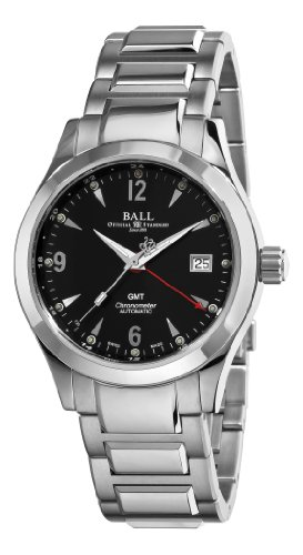 Ball Men's GM1032C-S2CJ-BK Engineer II Ohio Black GMT Dial Watch