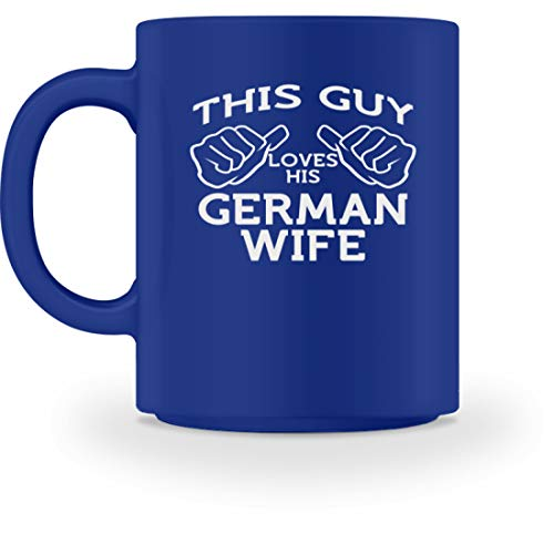 SPIRITSHIRTSHOP This Guy Loves His German Wife - Taza, diseño con texto...