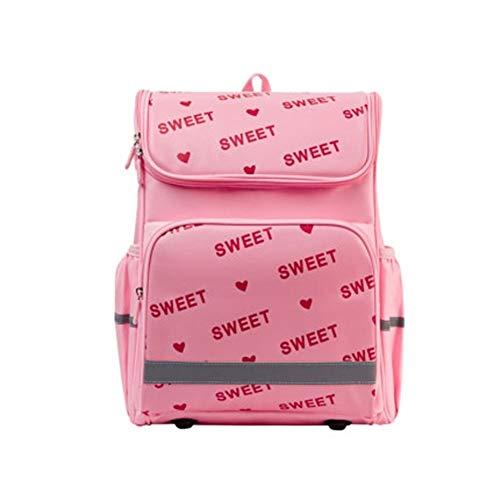 HUOQILIN Grundschule Kinderschultaschen Mädchen Tasche-in-one Tragbarer Paket Zurück Schutz