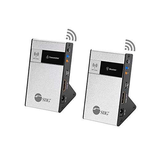 SIIG CE-H23Q11-S1 Wireless HDMI Extender Kit 98Ft 30M Supporting 4K @30Hz HDCP 1.4 CEC 60GHz...