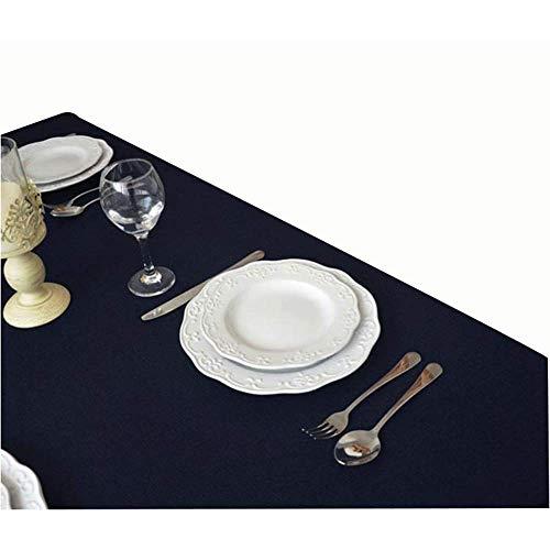 MJK Manteles para el hogar, Mantel de algodón de color sólido para el hogar Mantel Mantel,Azul marino,30 × 220 cm