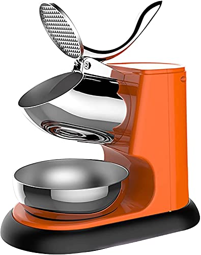Ghongrm Máquina de afeitadora de Hielo de la máquina de Hielo eléctrica Comercial Máquina de afeitadora de Hielo Máquina de Nieve eléctrica 300W 95 kg/h para Familia, Escuela, restaurantes, Bares (c